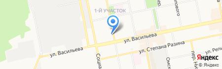Отдел управления ФСБ РФ по Алтайскому краю в г. Бийске на карте Бийска
