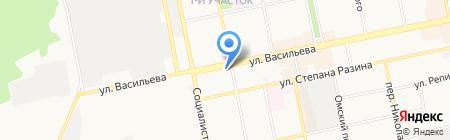 Макси на карте Бийска