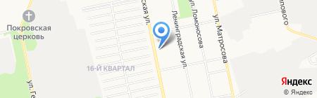 Апрель на карте Бийска