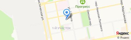 Турмалин на карте Бийска