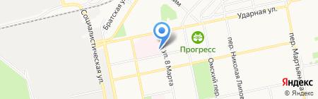 Городская больница №2 на карте Бийска