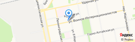 Крепёж на карте Бийска