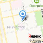 Уралочка на карте Бийска