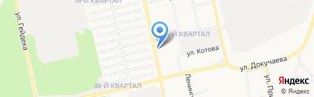 Лидер-Сибирь на карте Бийска