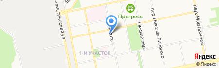 Vias на карте Бийска