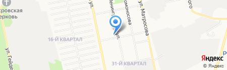 Трайдент на карте Бийска