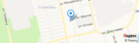 Бийсквенстрой на карте Бийска