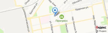 Средняя общеобразовательная школа №40 им. Вячеслава Токарева на карте Бийска