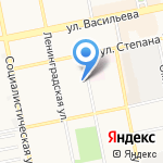 Василёк на карте Бийска