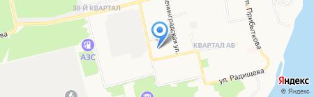 Тополь на карте Бийска