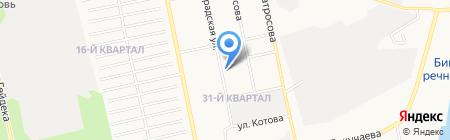 Темп на карте Бийска