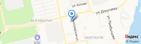 Новатор на карте Бийска