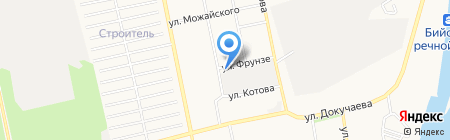 Сижан на карте Бийска