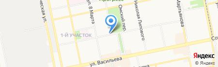 Школа Роста на карте Бийска