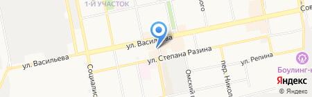 Мясной на карте Бийска