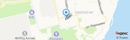 Бийский лицей на карте Бийска