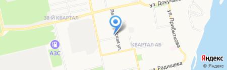 Молодежный на карте Бийска