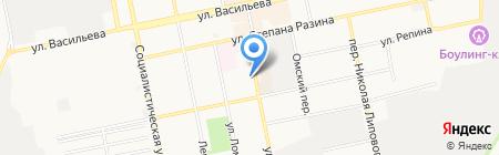 Московская распродажа на карте Бийска