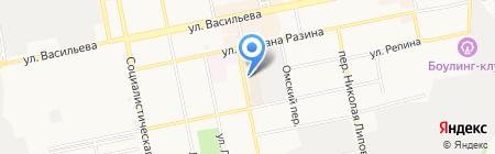 Галант на карте Бийска