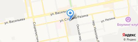 Бийская мебельная фабрика на карте Бийска