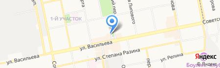 Компания на карте Бийска