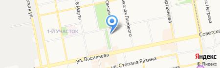 Ануй на карте Бийска