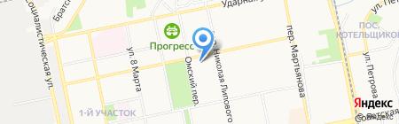 Отряд на карте Бийска