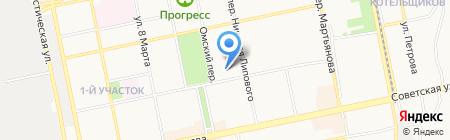 Средняя общеобразовательная школа №25 на карте Бийска