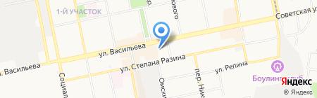 Милёнок на карте Бийска