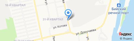 Магазин фруктов и овощей на ул. Фрунзе на карте Бийска