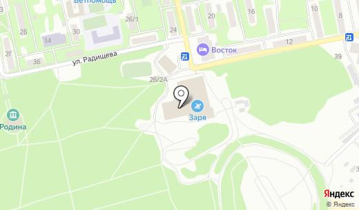 Заря. Схема проезда в Бийске