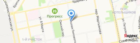 Элмикс на карте Бийска