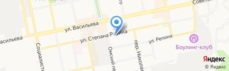 Зеркальная мастерская на карте Бийска