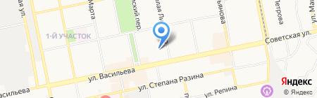 Колос на карте Бийска