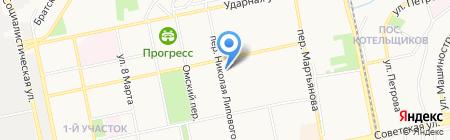 Швейная мастерская в переулке Липового на карте Бийска