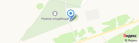 Северное кладбище на карте Бийска