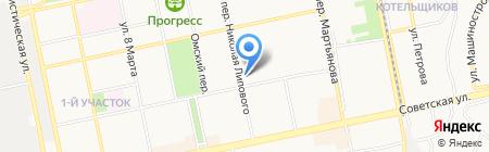 Золотой Глобус на карте Бийска