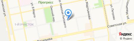 Северный на карте Бийска