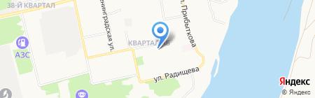 Талисман М на карте Бийска