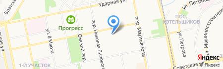 Средняя общеобразовательная школа №3 на карте Бийска