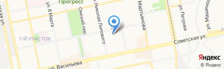 Алёнка на карте Бийска