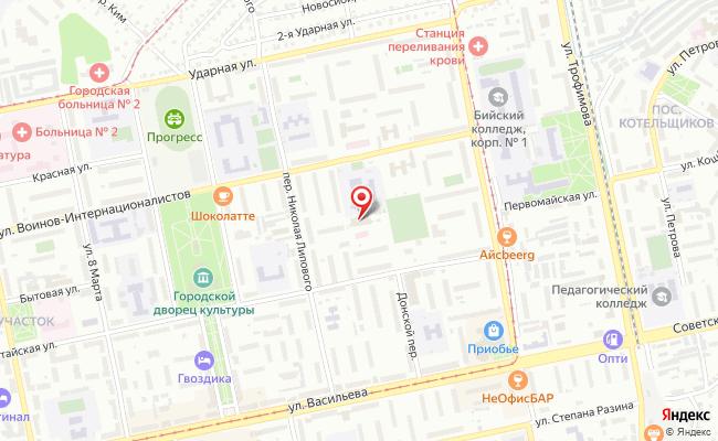 Карта расположения пункта доставки Халва в городе Бийск