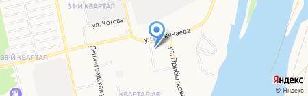 Баня №7 на карте Бийска