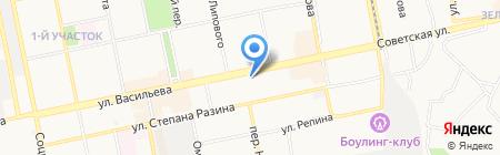 Батарейка на карте Бийска