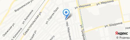 МодЕЛь на карте Бийска