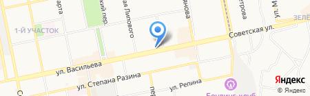 Магазин фруктов на карте Бийска