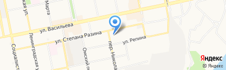 Юбилейный на карте Бийска