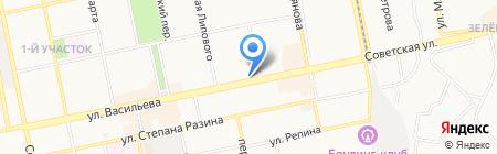 Сеть магазинов кондитерских изделий на карте Бийска