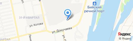 Бийский сахарный завод на карте Бийска
