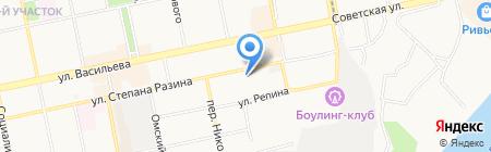 Импульс на карте Бийска